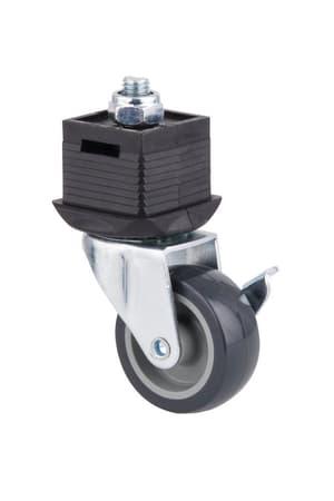 Fuss mit Rolle und Bremse, lenkbar