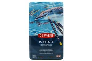 12 crayons Inktense Derwent