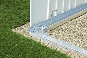 Cadre de sol en aluminium pour l´abri de jardin AvantGarde A2
