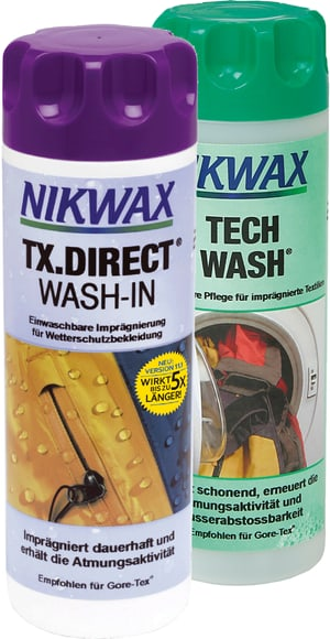 Duo Pack Tech Wash + TX. Direct Wash-In