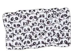 Serviette éponge Tao noir-blanc 50x100cm