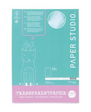 Transparentpapier Block A4, 25 Blatt