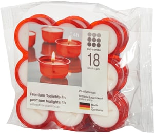Bougies Click&Light 4H, 18 piece