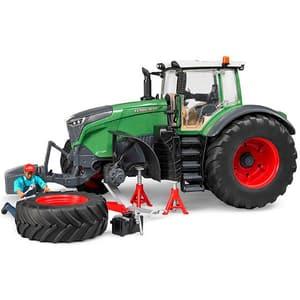 Bruder Spielwaren Vario Fendt 1050 Tracteur avec mécanicien et accessoires de dépannage