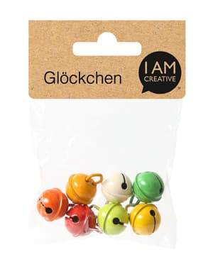 Glöckchen ø 15 mm, gelb / rot / grün
