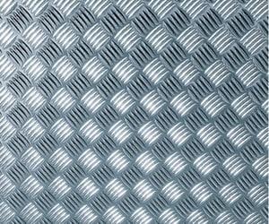 Pellicole decorative autoadesive Metallic Riffelblech Silver