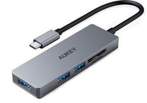 Aukey USB-C 5-in-1 Aluminium Hub