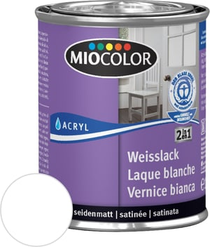 Laque acrylique blanche mate soyeuse Blanc 125 ml
