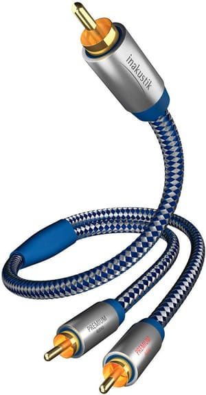 Premium Y-Subwoofer RCA Kabel (2m)