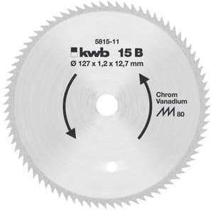 Kreissägeblatt Ø 127x12,75 Z80