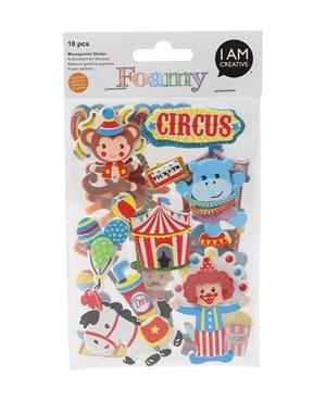 FOAMY, 3D-Sticker Zirkus, 18 Stk