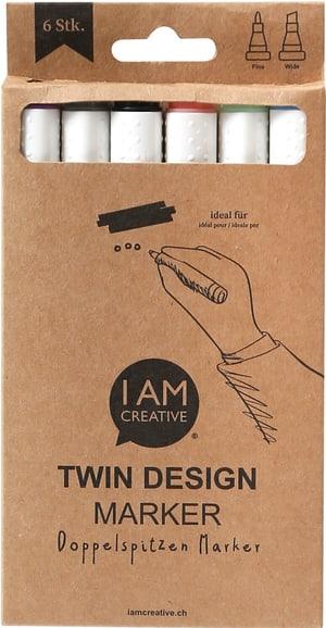 Twin marker, 6 Stück