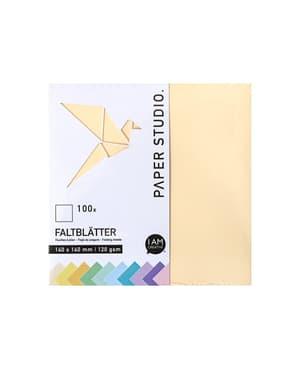 Faltblätter Pastell 14 x 14 cm, 100 Blatt