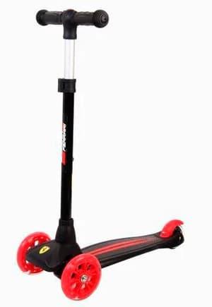 Scooter Ferrari avec roues LED noires