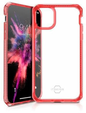 Hard Cover HYBRID CLEAR red transparent