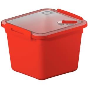 MEMORY Mikrowellendose 1.6l mit Deckel und Ventil, Kunststoff (PP) BPA-frei, rot
