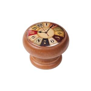 Möbelknopf farbige Uhr Honig