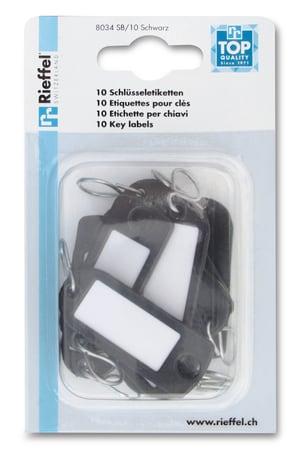 Etiquettes pour clés noires