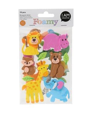 FOAMY, 3D-Sticker Dschungel, 18 Stk