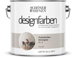 Designfarbe Ästhetisches Betongrau 2,5 l