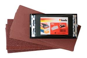 PROFI Set levigatrice portatile, con 50 dischi abrasivi