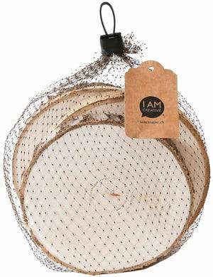 Dischi di legno, 12cmx1.2cm, 4 pzz.