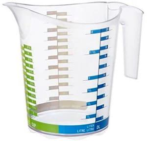 DOMINO Messbecher 2l mit Skala, Kunststoff (PP) BPA-frei, transparent