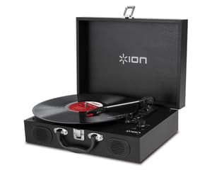 Ion Koffer-Plattenspieler Vinyl Transport schwarz Plattenspieler