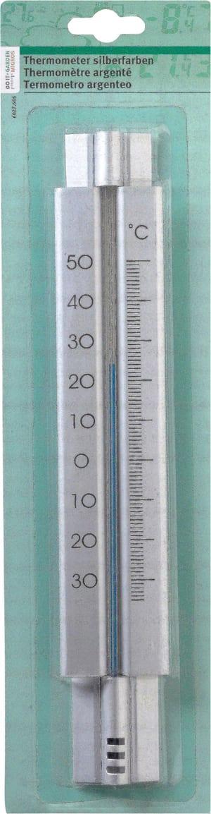 Thermomètre argenté