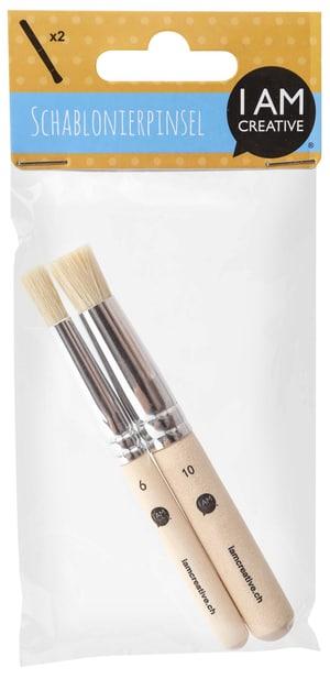Schablonierpinsel, Set, 6 und 10 mm, FSC®