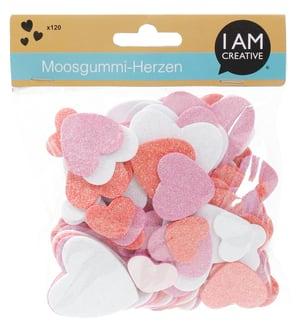 Moosgummi Glitterherz