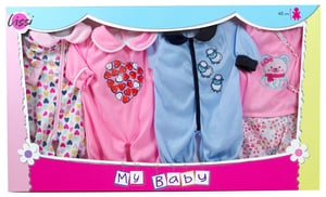 Set of 4 Outfits(für 14'' Puppe)