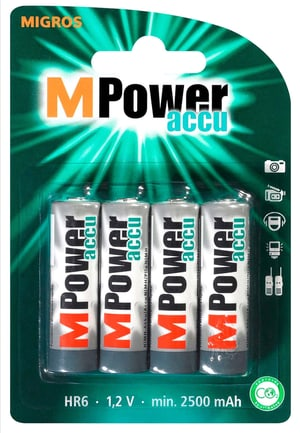 Akku AA / HR6 2500mAh NiMH MPower 4Stk