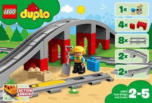 Duplo Les rails et le pont du train 10872