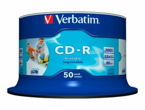 CD-R 700 Mo Wide Inkjet Printable
