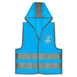 Gilet di sicurezza blu motivo 'Monster'