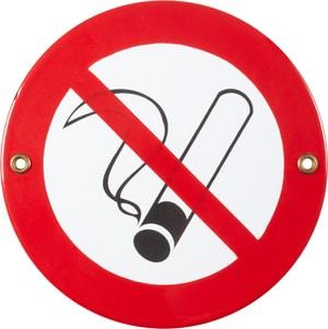 Panneau en émail Nichtraucher Symbol