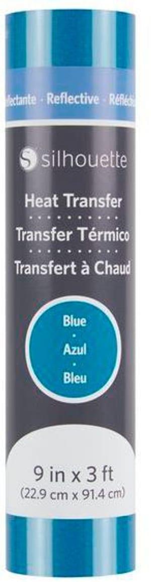 Aufbügelfolie 22.9 cm x 91.4 cm Blau, reflektierend