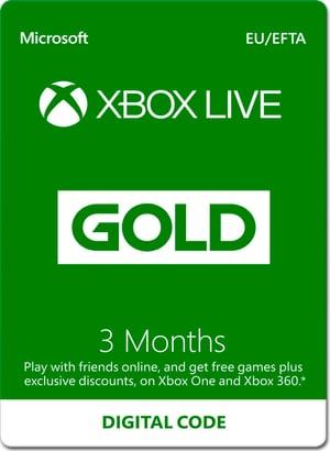 Xbox Live Gold - 3 mois