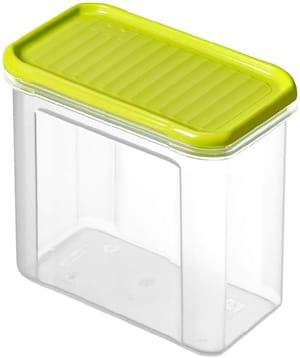 DOMINO Vorratsdose 1l mit Deckel, Kunststoff (PP) BPA-frei, transparent/grün