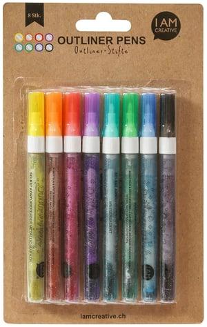 Outliner Pen, Set, 8 Stk.