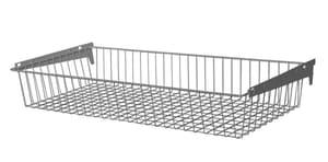 Cestello in filo metallico 800 x 350 x 120 mm bianco