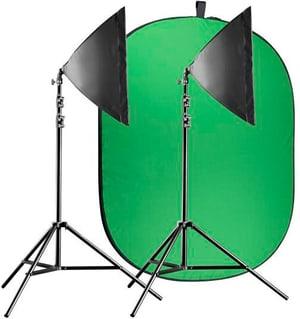 Dauerlicht Pro Video Greenscreen Set Einsteiger