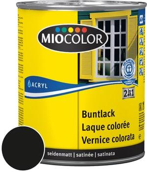 Acryl Vernice colorata satinata Nero 750 ml