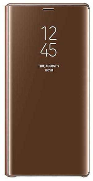 Clear View Standing Cover marron