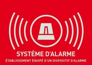 Warnaufkleber Alarm (französisch)