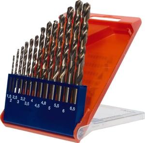 COBALT HSS CO Set punte elicoidali 1,5 - 6,5 plus 3,3 e 4,2 mm 13 pz.