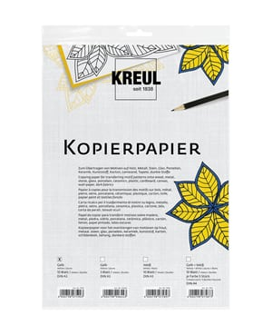 KREUL Kopierpapier 10 Blatt Gelb 30 x 42 cm