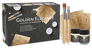 Vergolden mit Blattmetall Set Golden Elegance, beinhaltet alles zum Vergolden, ideal für Einsteiger