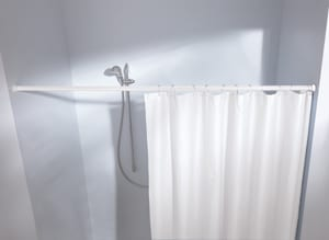 Barre extensible Ø 21 mm blanc 75-125 cm